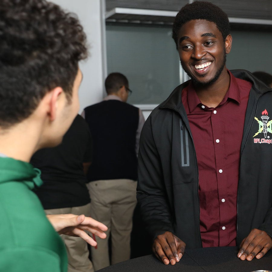 BLAG student meets with alumni